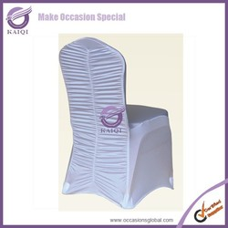 775 banquet ruffled stretch elastic polyester cheap spandex chair cover