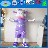 Standing Inflatable Milka Cow Character, Standing People Inflatable Character Mascot
