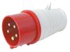 plastic male Industrial Plug CE 015 16A 3P+N+E 380V PC electric plug socket couplings plug and socket(16A 3P+N+E)