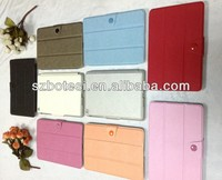 Third folded cross pattern leather case for ipad mini