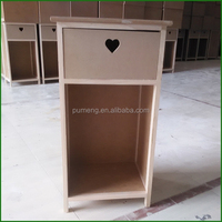 Wholesale Unfinished Wooden Cabinet Desk Organizer Furniture
