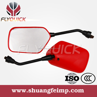 ZF001-77R Universal Good Quality Aftermarket Scooter enduro Plastic Motorcycle Rearview side Mirror for DY90 WY125-C