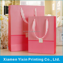Factory made cheap pink paper bags for sale