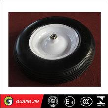 CHINA Solid Wheelbarrow 2 Wheels Flat Free Wagon Wheel Small PU Foam Wheel 4.10/3.50-4