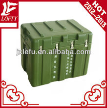 Hard plastic tool case with foam