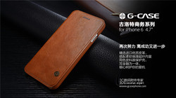 G-case flip cover leather wallet design top grade case for iphone 6