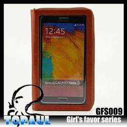 Hot sales PU leather wallet cell phone cover case for samsung galaxy S5