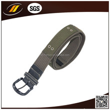 Fashionable Camel Alloy Buckle Nylon Webbing Canvas Belt For Woman
