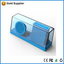 custom made mobile phone speaker retro transparent bluetooth speaker