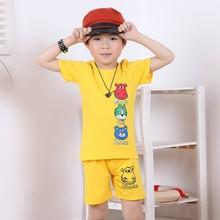 2015 new fashion 100%cotton round collar printed kids boys Tshirt 2-6y
