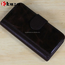 PU leather high quality fold flip mobile display case for iphone
