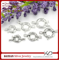 XD P378 Factory Direct Sale 925 Sterling Silver Spring Ring Clasps for Jewelry