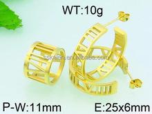 wholesale saudi gold plated ear hook jewelry lots