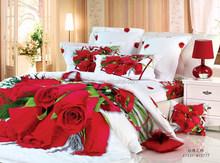 Fashion 3D ROSE Bedding sheet sets cotton bedding sheet sets
