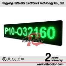 Customize High quality P10 Outdoor waterproof LED Display Board /32*160cm led scrolling moving message screen display