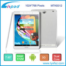 Metal 3g android tablet pcs with Megnet flip folding cover,MTK8312 dual core,7.85inch HD Screen