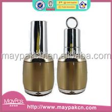 2015 wholesale custom clear round plastic with UV caps nail polish bottle