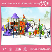 Amusement game school park outdoor children playground equipment with funny slide for kid play set in the backyard AP-OP10822