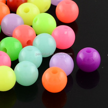 Summer Color Neon 20mm Mix Color Acrylic Fluorescence Solid Beads for Chunky Beads Necklace Jewelry, Bubblegum(MACR-R517-20mm-M)