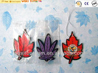gift promotion leaf style cotton paper car air freshener