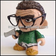 gun vinyl toys, vinyl toys with glasses, custom gun vinyl toys with glasses