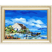 Hot sale Europe style landscape menglei painting by numbers kits