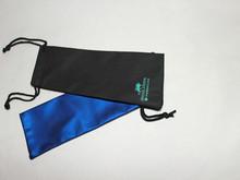 Black drawstring pen bag