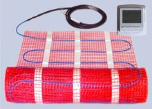 European 2015 best-selling Red mat blue cable household floor warming heating mat for with thermostat