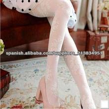 Exquisitos relieves encaje rosas hueco seda tejida cosecha tallada malla moda invierno blanco lechoso mujeres medias