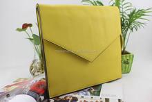 Fluorescence colour envelope clutch bag PU message bag