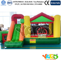 inflatable jumping castle Pink Party Inflatable Bouncers Inflatable Bounce House Combo With Pit Pool