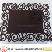 Alibaba trade Assurance Supplier home table decoration felt placemat/coaster