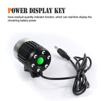 aluminium shell bike light with power display key on sales