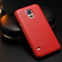 High quality genuine leather skinning mobile phone flip case cover for Samsung galaxy S5 I9600