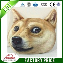 2015 3D dog face memory foam pillow / wholesale dog product