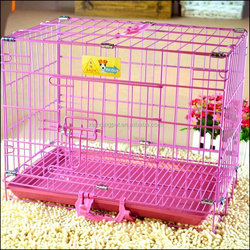 Pink Blue Metal pet dog cages wholesale