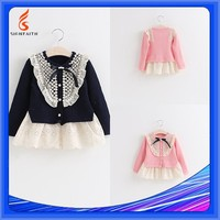 Autumn, Children, OEM Service, Knit Sweater For Young Girls