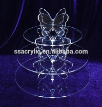 crystal wedding cake stand wedding decoration/ 3 Tier Acrylic Cake Stands For Wedding Cakes
