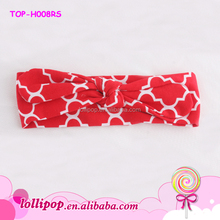 2015 New style soft infant sport headband red quatrefoil cotton baby turban headband