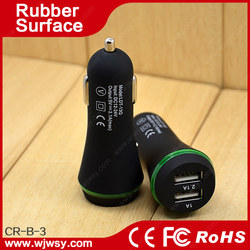 Car accessories, mobile phone accessories dual port car charger for all kinds phones