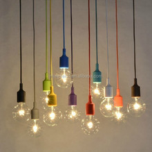 Funky White Pendant Lights Fitting, Braided Colours Waires Lamp Holder