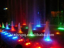 Musical water fountain installation with stainless steel tube materials