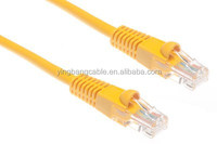 yellow 0.5-50m Ethernet Gigabit cabling rj45 patch cord category 5e