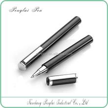 2015 Short heavy metal refillable luxuries signature roller tip pen 0.5mm rollerball gel pen