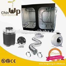 Green house fresh air system ventilation fan/dc inline duct fan/600d mylar indoor grow tent kit