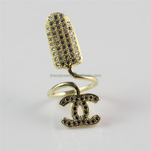 Pretty Special Design of Zircon Gold Plated Little Finger Ring