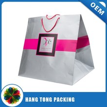Guangzhou manufacture Custom printed shopping paper bag/paper gift bag/recycle paper bag design