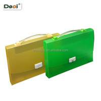 office supplies PP clear plastic document case with handle