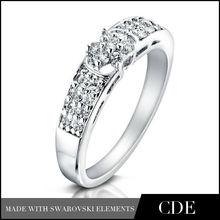 Mujeres de moda de Dubai la joyería del oro blanco modelo de anillo
