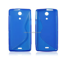 S Shape Gel TPU Material Cell Phone Back Cover Case for Sony Xperia ZR M36H